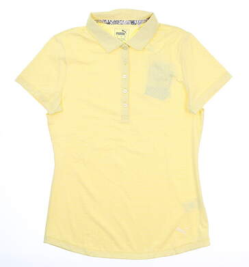 New Womens Puma Swift Golf Polo Small S Blazing Yellow 577922 MSRP $55