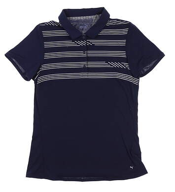 New Womens Puma On Par Golf Polo Small S Peacoat 595139 MSRP $60