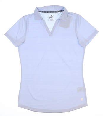 New Womens Puma Coastal Golf Polo Small S Blue 595136 MSRP $55