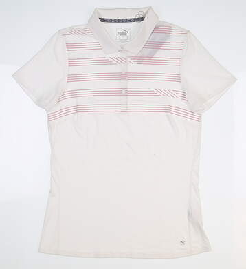 New Womens Puma On Par Golf Polo Small S White 595139 MSRP $60