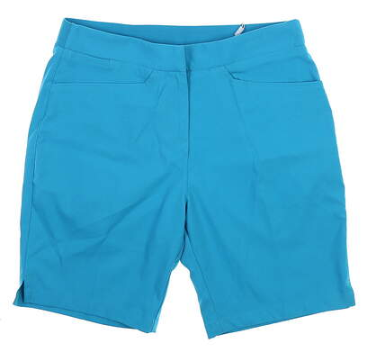 New Womens Puma Pounce Bermuda Golf Shorts Small S Caribbean Sea 577944 MSRP $65