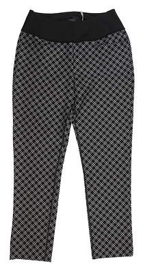 New Womens Puma PWRSHAPE Checker Golf Pants Small S Black 577955 MSRP $85