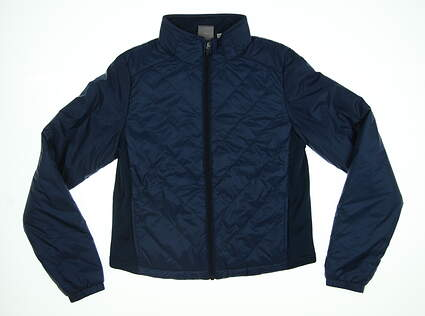 New Womens Puma Quilted Primaloft Golf   Jacket Small S Gibraltar Sea 595168 MSRP $160