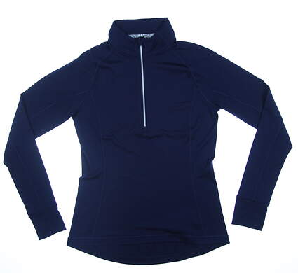 New Womens Puma Rotation 1/4 Zip Golf Pullover Small S Peacoat 577943 MSRP $65