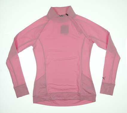 New Womens Puma Brisk 1/4 Zip Pullover Small S Pale Pink 577936 MSRP $70