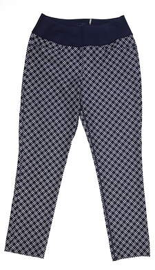 New Womens Puma PWRSHAPE Checker Golf Pants Small S Peacoat 577955 MSRP $85
