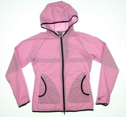 New Womens Puma Zephyr Golf Jacket Small S Pale Pink 577942 MSRP $75