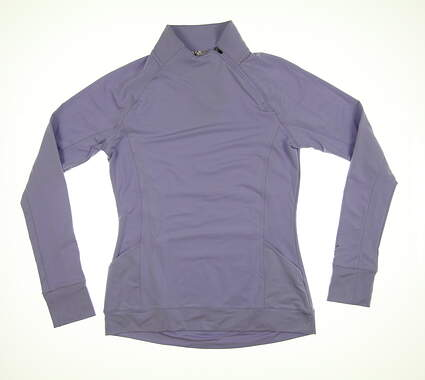 New Womens Puma Brisk 1/4 Zip Pullover Small S Sweet Lavender 577936 MSRP $70