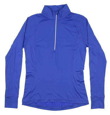 New Womens Puma Rotation 1/4 Zip Golf Pullover Small S Dazzling Blue 577943MSRP $65