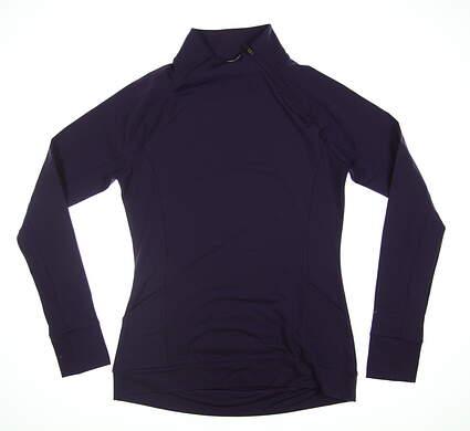 New Womens Puma 1/4 Zip Pullover Small S Purple MSRP $70
