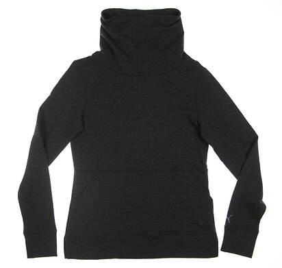 New Womens Puma Brisk Golf Pullover Small S Dark Grey 577940 MSRP $70