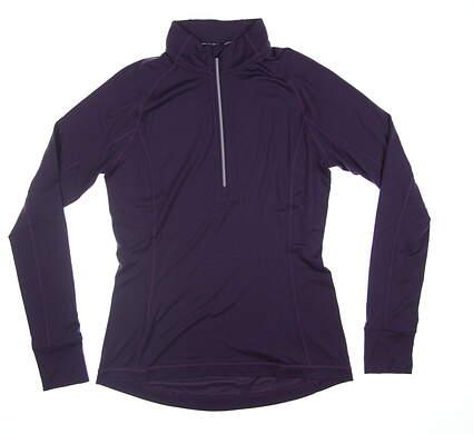 New Womens Puma Rotation 1/4 Zip Golf Pullover Small S Indigo 577943 MSRP $65