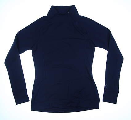 New Womens Puma Brisk 1/4 Zip Pullover Small S Peacoat 577936 MSRP $70