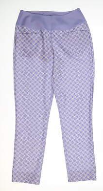 New Womens Puma PWRSHAPE Checker Golf Pants Small S Sweet Lavender 577955 MSRP $85