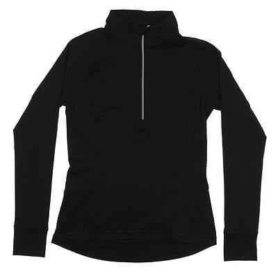 New Womens Puma Proven 1/4 Zip Golf Pullover Small S Black 577943 MSRP $65