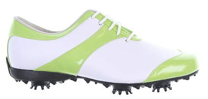 New Womens Golf Shoe Footjoy LoPro Collection Size 6.5 Medium White/Green 97330 MSRP $160