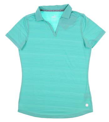 New Womens Puma Coastal Polo Small S Blue Turquoise 595136 04 MSRP $55