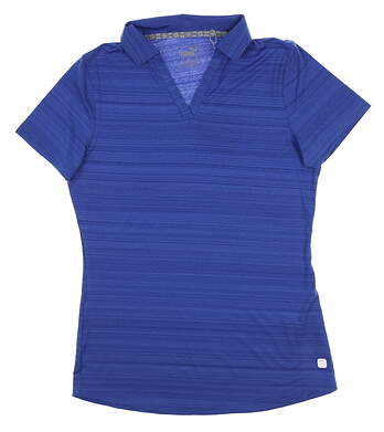 New Womens Puma Coastal Polo Small S Dazzling Blue 595136 08 MSRP $55