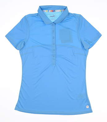 New Womens Puma Rotation Polo Small S Ethereal Blue 595822 07 MSRP $50