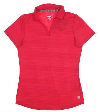 New Womens Puma Coastal Polo Small S Azalea 595136 02 MSRP $55