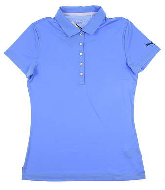 New Womens Puma Pounce Polo Small S Blue Glimmer 574652 25 MSRP $50