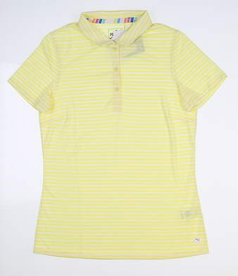 New Womens Puma Drive Polo Small S Sunny Lime 595820 04 MSRP $60