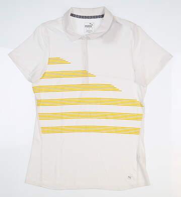 New Womens Puma Polo Small S Bright White 595480 02 MSRP $60