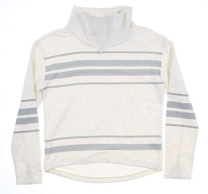 New Womens Puma Slouchy Fleece Small S Bright White 595162 01 MSRP $75