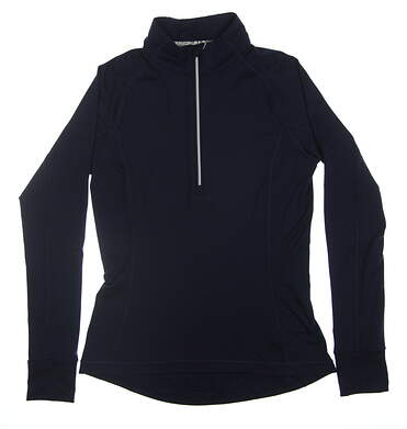 New Womens Puma Proven 1/4 Zip Small S Peacoat 595161 01 MSRP $65