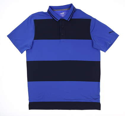 New Mens Puma Rugby Golf Polo Medium M Dazzling Blue 595677 MSRP $70