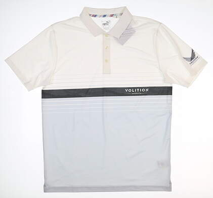 New Mens Puma Volition Horizon Golf Polo Medium M Multi 577929 MSRP $80