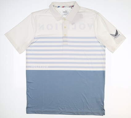 New Mens Puma Volition CK6 Flag Golf Polo Medium M Multi 577743 MSRP $80