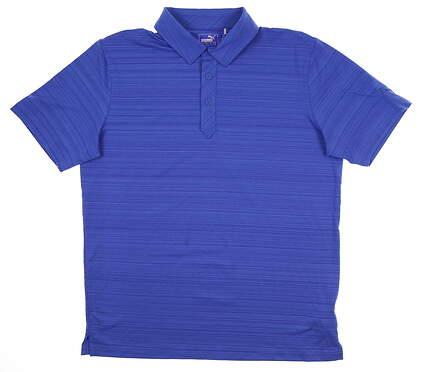 New Mens Puma Breezer Golf Polo Medium M Dazzling Blue 595116 MSRP $70