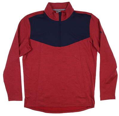New Mens Puma Preston 1/4 Zip Golf Pullover Medium M Rhubarb 595120 MSRP $75