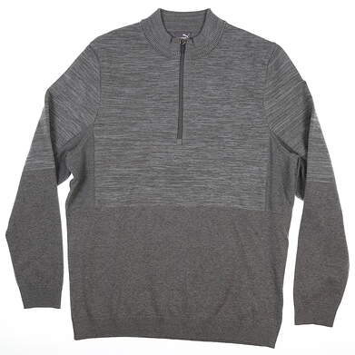 New Mens Puma Evoknit 1/4 Zip Golf Sweater Medium M Quarry 595125 MSRP $95