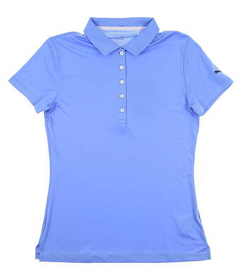 New Womens Puma Pounce Golf Polo Small S Blue Glimmer 574652 MSRP $50