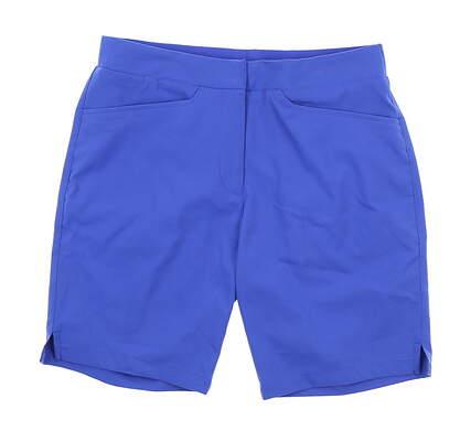 New Womens Puma Pounce Bermuda Golf Shorts Small S Dazzling Blue 577944 MSRP $65