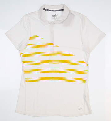 New Womens Puma Golf Polo Small S White 595480 MSRP $60