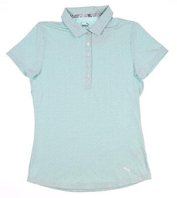 New Womens Puma Swift Golf Polo Small S Blue Turquoise 577922 MSRP $55