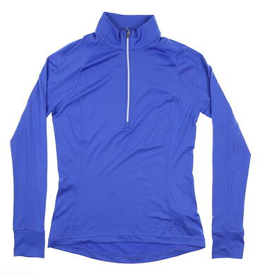 New Womens Puma Rotation 1/4 Zip Golf Pullover Small S Dazzling Blue 577943 MSRP $65
