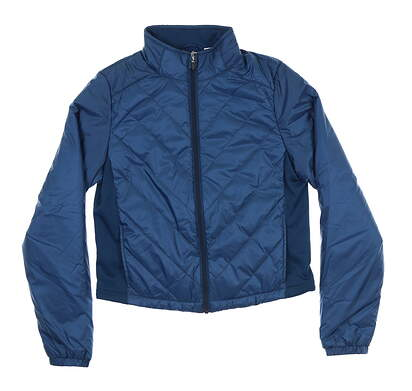 New Womens Puma Quilted Primaloft Jacket Small S Gibraltar Sea 595168 MSRP $160