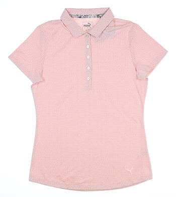 New Womens Puma Swift Golf Polo Small S Bridal Rose 577922 MSRP $55