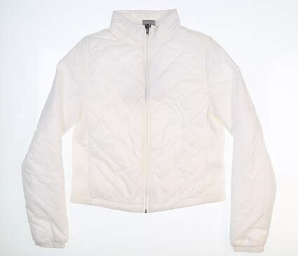 New Womens Puma Quilted Primaloft Jacket Small S White 595168 MSRP $160