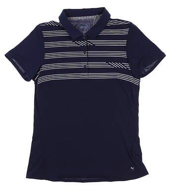 New Womens Puma Golf Polo Small S Peacoat 595139 MSRP $60