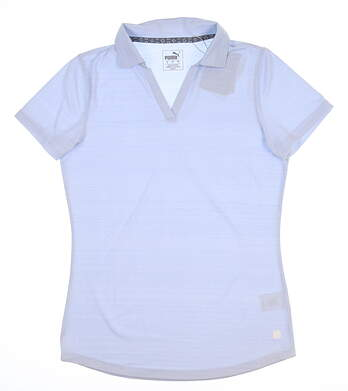 New Womens Puma Coastal Golf Polo Small S Blue 595136 MSRP $55