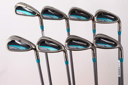 Ping 2015 Rhapsody Iron Set 5-PW GW SW TFC 59 Distance Graphite Ladies Right Handed Gold Dot 34.5in