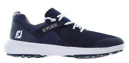 New Mens Golf Shoe Footjoy FJ Flex Medium 9 Blue 56102 MSRP $90