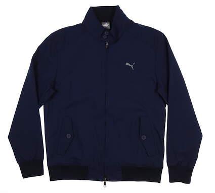 New Mens Puma Causeway Jacket Medium M Peacoat 595362 01 MSRP $140