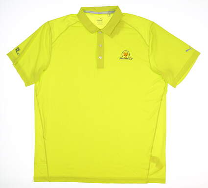 New W/ Logo Mens Puma Pounce Solid Polo X-Large XL Green 570463 30 MSRP $60