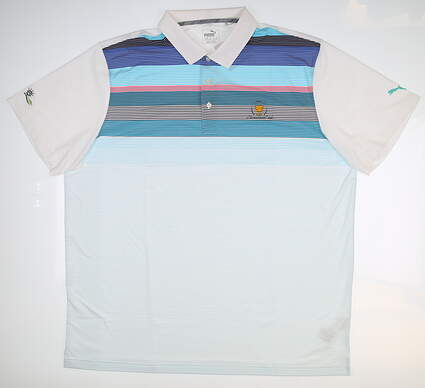 New Mens Puma Gotime Roadmap Polo X-Large XL Multi 573271 01 MSRP $68